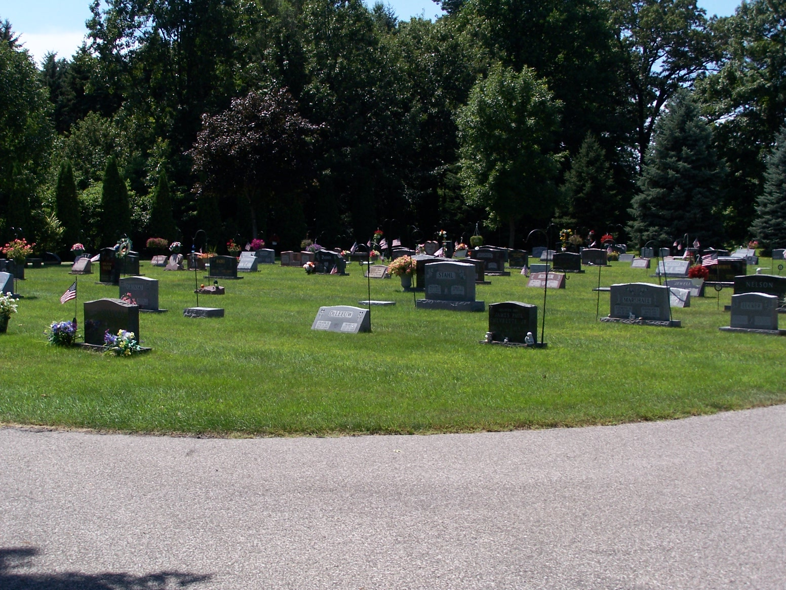 Photo of cemetery graves